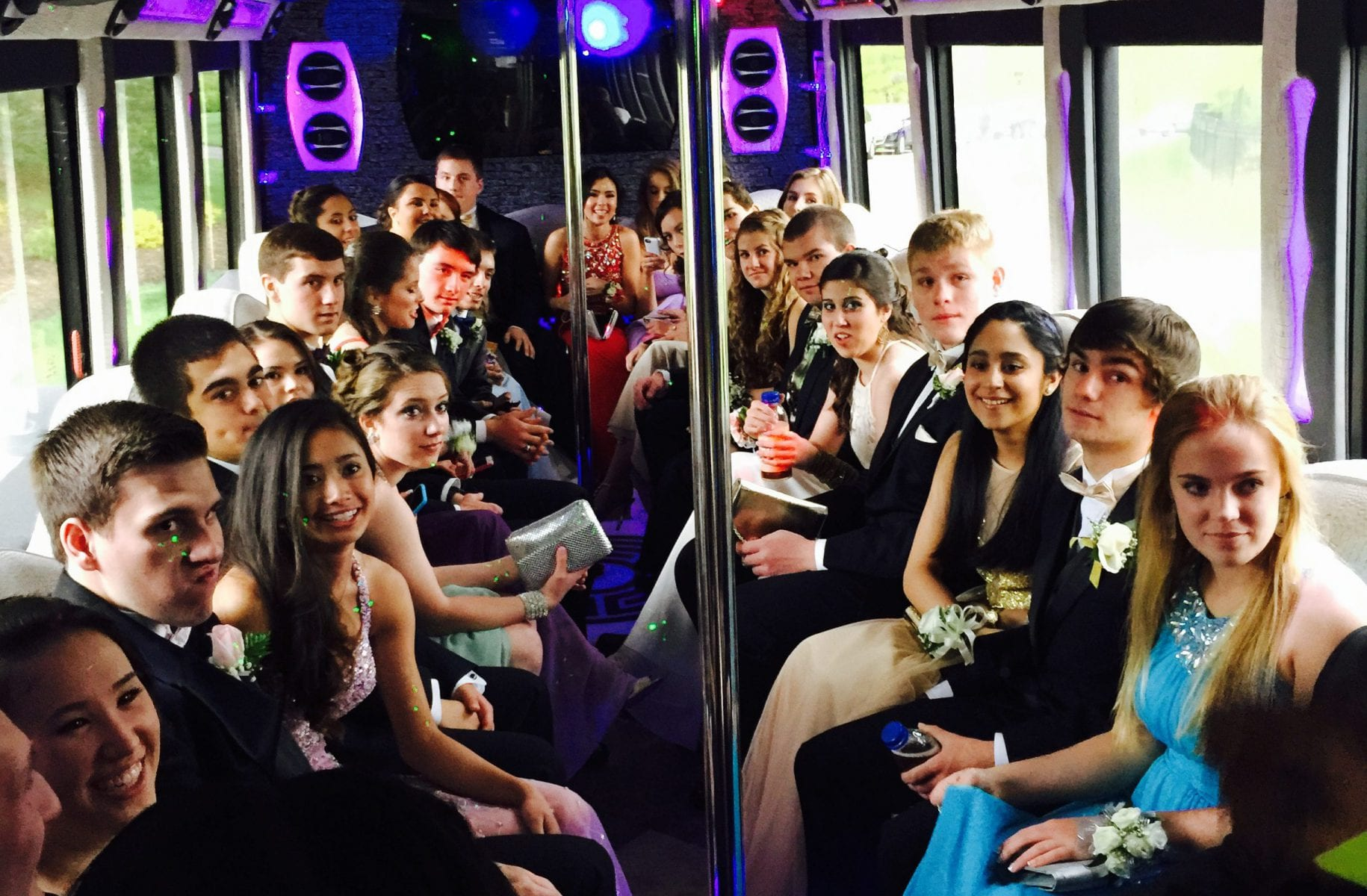 Graduation Limo Bus for Prom