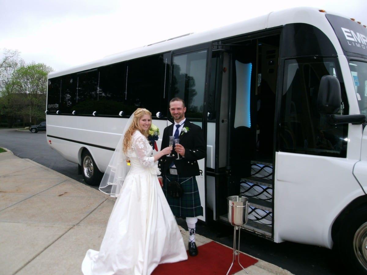 Long Island Wedding Party Bus